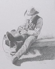 """Saddle Soap"" - 11 x 14 Print from Original Pencil"