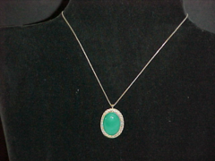 Calcedony & Silver Pendent