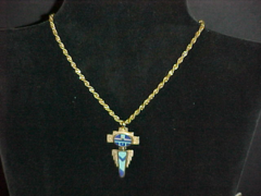 14K God with Inlay Necklace