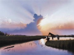 """""""Evening Reflection"""" - 32x22 Limited Edition Print"""