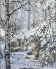"""Treetops Glisten"" - by Julie Kramer Cole, Limited Edition Print"