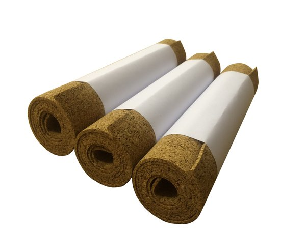 Adhesive Cork Rolls - 1 Meter x 195mm - 1mm thick - Pack of 3