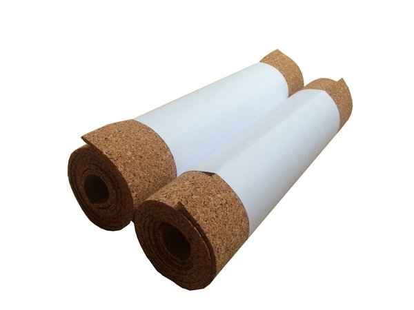 Adhesive Cork Rolls - 960mm x 305mm - Various Thicknesses - Pack of 2