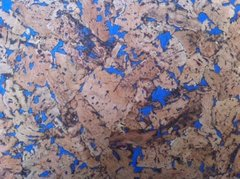 Blue Pattern Cork Wall Tiles - 300mm x 300mm - 3mm thick - Pack of 18