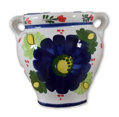 Hand Painted Spanish Wall Planter (Flor Azul)