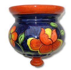 Hand Painted Spanish Wall Planter (Camelia)