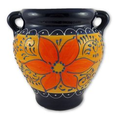 Hand painted Spanish wall planter (ref 210/AZ)