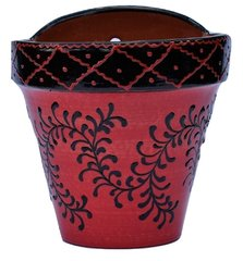 Hand Painted Spanish Wall Planter (Alegria Roja)