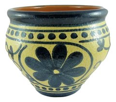 Hand Painted Spanish Garden Pot (Granito Azul)