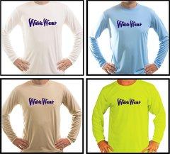 Wave wear Microfiber Long Sleeve T Shirt UPF 50 Solar Protection Moisture wicking technology Fishing