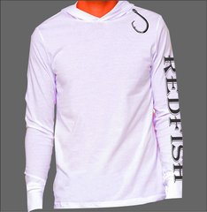 Redfish Hoodie Microfiber Long Sleeve T Shirt UPF 50 Solar Protection Moisture wicking