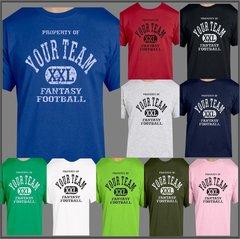 Fantasy Football Custom T shirt, XXL Personalized Team Tee, Customize