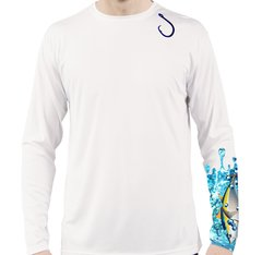 Tuna Long Sleeve T Shirt UPF 50 sun protection with hook front