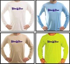 Wave Wear Sailing Microfiber Long Sleeve T Shirt UPF 50 Solar Fishing Boating