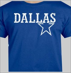 Cowboys Dallas Lone Star State distressed t shirt Royal blue