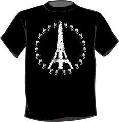 Eiffel Tower Peace Sign T Shirt Paris France Peace symbol Dove design