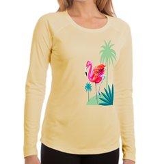 Flamingos Long Sleeve upf 50 sun protection women