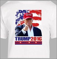 Donald Trump T Shirt President election Make America great again American Flag