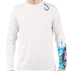 Grouper Long Sleeve T Shirt UPF 50 sun protection with hook front