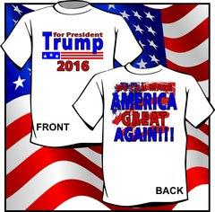 Donald TRUMP for President 2016 T-Shirt Republican Campaign Shirt Men's NEW