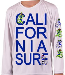 Youth Microfiber long sleeve upf 50 solar protection California Surf club Geckos front and sleeve Print