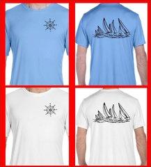Hanes Sailing T Shirt UPF 50 sun protection