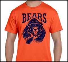 Chicago Old school bear distressed design burnt orange 100% cotton
