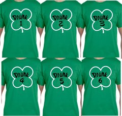 Drunk 1 Drunk 2 as Many Drunks as you want Funny Drinking T-Shirt, St Patrick's Day Bar Crawl