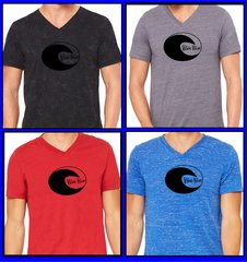 Wave Wear Brand V Neck t shirt, 100% cotton ringspun combed cotton tee