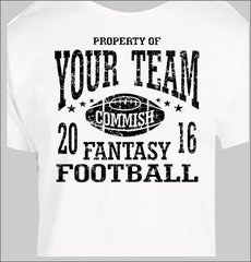 Custom Fantasy Football Commish 2015 t shirt personalized team name Custom Tee