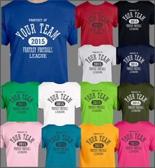 Fantasy Football Custom T shirt, Personalized Team Tee, Customize with the year of your choice
