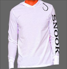 Snook Hoodie Microfiber Long Sleeve T Shirt UPF 50 Sun Protection Moisture wicking