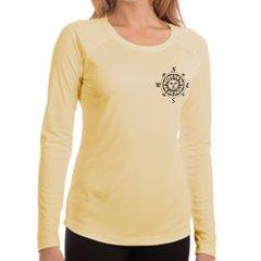 Compass Rose upf 50 sun protection Ladies Long Sleeve