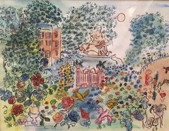 'In the Garden' by Raoul Dufy, Limited Edition Lithograph
