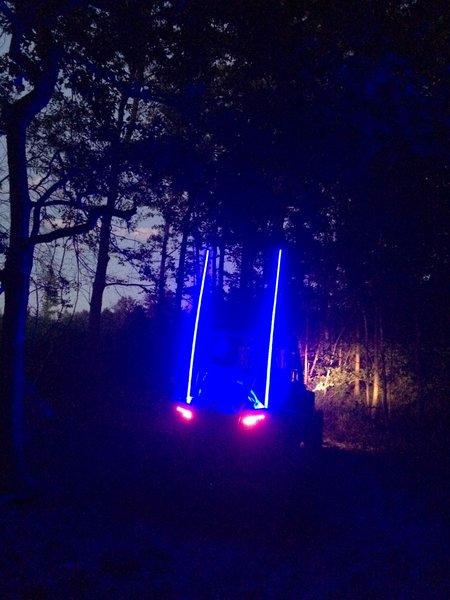 Blue led light whip millar light bars fx whips blue led light whip aloadofball Image collections
