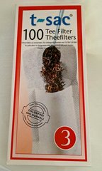 T-Sac Tea Filters (#3 size - 100 Filters)