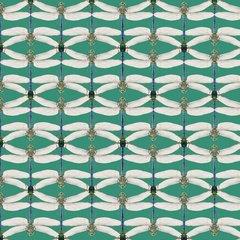 Bugs in Green Fabric