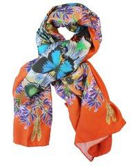 'Summer Evenings' in Orange. Silk scarf