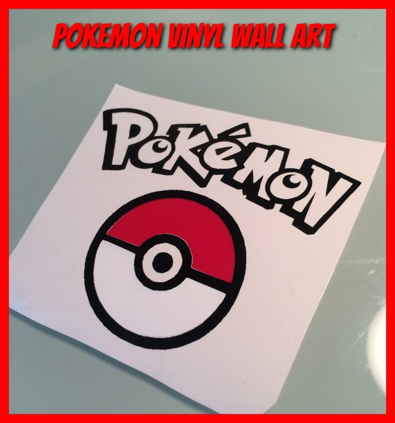New pokemon go self adhesive vinyl decal/wall art/door sign