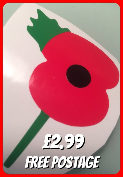POPPY self adhesive vinyl decal sticker comes in various finishes