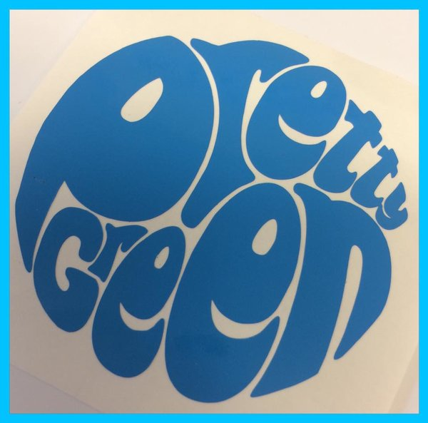 pretty green self adhesive vinyl decal comes in metallic chrome , vinyl , glitter effect and reflective vinyl