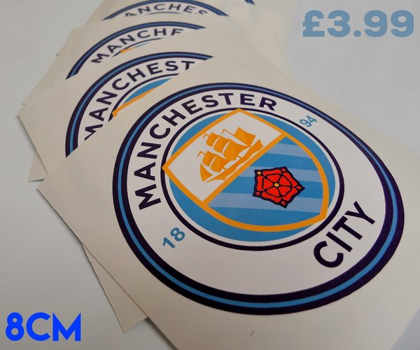 Manchester City F.C badge car sticker , scooter decal , wall art