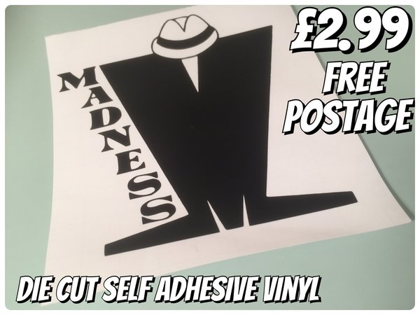 madness die cut self adhesive vinyl decal sticker logo