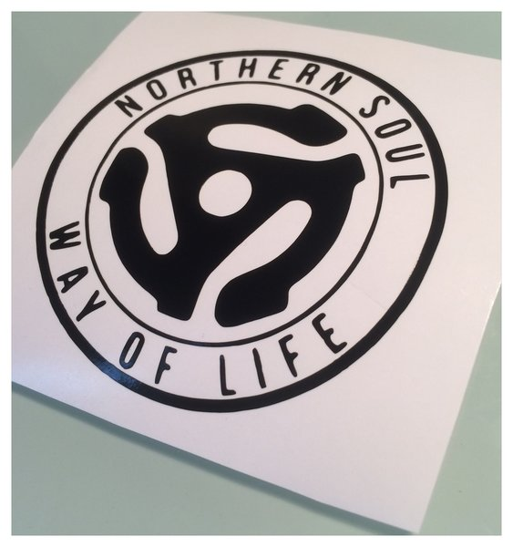 northern soul way of life self adhesive vinyl decal comes in various colours sizes and now comes in coloured chrome vinyl