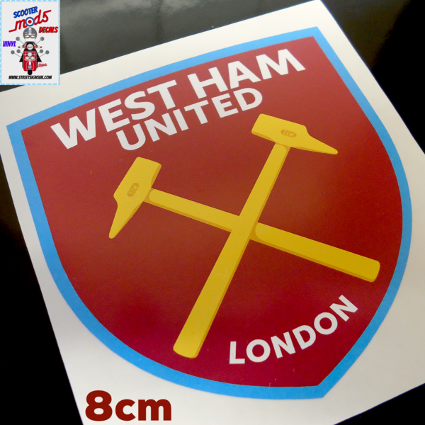 West Ham print and cut self adhesive vinyl decal sticker wall art