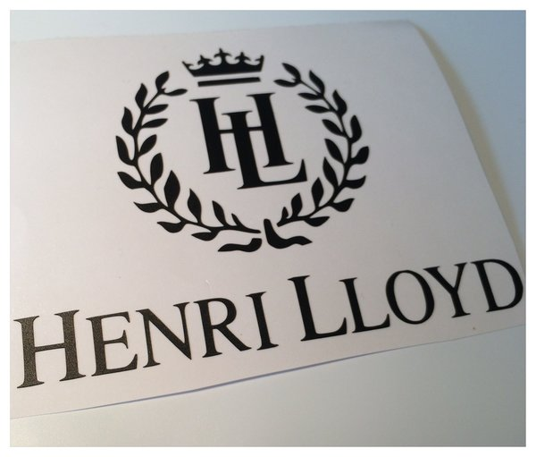Henri lloyd self adhesive vinyl decal/sticker wall art various colours finishes and sizes now in coloured metallic chrome