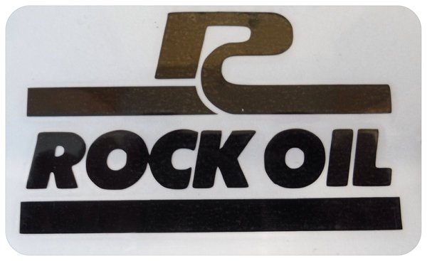 Rock oil self adhesive vinyl decal /sticker now comes in coloured metallic chrome
