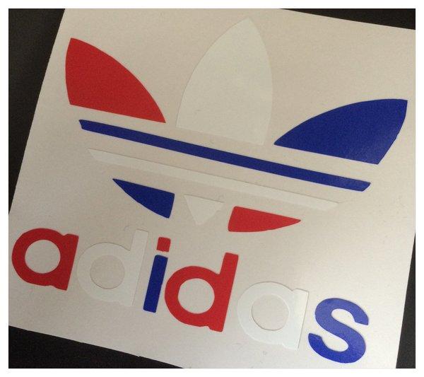 self adhesive vinyl decal/sticker adidas comes multi coloured