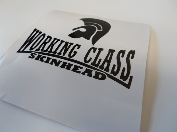 working class skinhead self adhesive vinyl decal/sticker