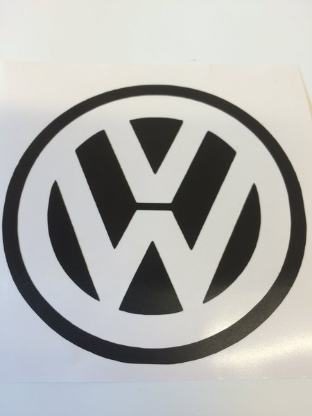 volkswagen logo in self adhesive vinyl decal/sticker comes in various sizes and colours